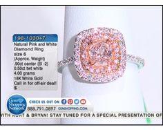 0.90 ctw Natural Pink Diamond Fancy Cut & 0.50 ctw Diamond 18K White Gold Ring, Size 6 (4.00 gram weight)