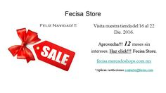 Haz click y visita. Http://fecisa.mercadoshops.com.mx