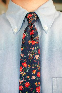 Floral Tie -- for more accessories, visit http://pinterest.com/davidos193/essentials-men-s-accessories/