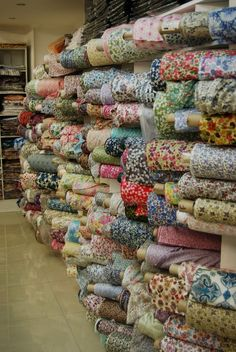 Liberty fabrics in London. im pretty sure this is what heaven looks like.