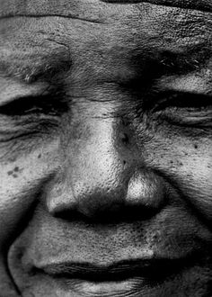 "♥ Nelson Mandela ♥ ""No one is born hating another person because of the color of his skin, or his background, or his religion. People must learn to hate, and if they can learn to hate, they can be taught to love, for love comes more naturally to the human heart than its opposite."" (Photo by Bruce Weber)"