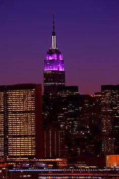 The Empire State Building is dazzling in purple all weekend for the Alzheimer's Association.