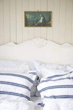 My Paradissi: Sunday Curtain Fabric, Curtains, Pillowcases & Shams, Bed Pillows, Pillow Cases, Bedrooms, House Design, Nice Things, Nautical