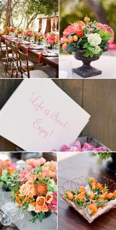 Fall color scheme - Santa Barbara Wedding by Lisa Vorce