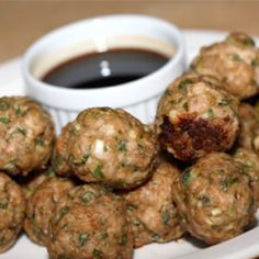 Chinese style turkey meatballs --these are ahhhmazing. I have made them several times-they are a must try!