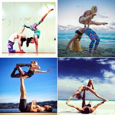 Amazing partner yoga pictures on Instagram