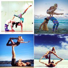 Amazing partner yoga pictures on Instagram