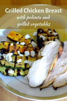 Looking for an easy chicken recipe? This simple dinner recipe is for a whole meal, including grilled chicken, elegant, creamy polenta and super tasty grilled vegetables. If you like grilling, try this chicken recipe! Grilled Vegetables, Chicken And Vegetables, Brunch Recipes, Easy Dinner Recipes, Romantic Meals, Easy Chicken Recipes, Grilled Chicken, Weeknight Meals, Main Dishes