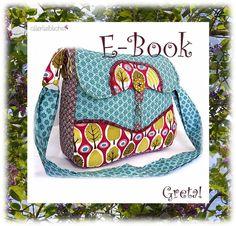 ebook schnitt, schnittmuster tasche greta*...noch mehr Bilder zur Greta hier auf meinem Blog:    http://allerlieblichst.blogspot.de/2012/05/endlich.html*    Ebook, E-book, Schnitt + Nähanle