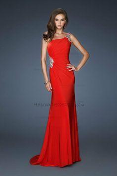 One Shoulder Open Back Red Full Length Prom Dresses http://www.hotpromdresses2013.com