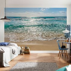 Seaside Mural | 368 x 254cm | Blue | Brewster Home Fashions @ The Home