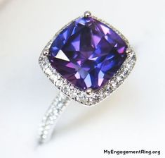 purple sapphire ring for engagement - My Engagement Ring