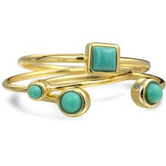 gold-midi-turquoise-ring-set_pfs-geoturq-set_1 Best Deal Bling Jewelry Triple Blue Midi Set