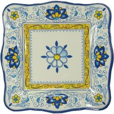 Amalfi Blue and Yellow Le Cadeaux Melamine Dinnerware, Dinner Plate by Le Cadeaux. $16.99. approx 11 inches. Designs inspiOrange by French and Italian pottery, purposely crafted with a distressed look. Safe enough for children. Dishwasher safe-Triple weight, tested for durability. Not Microwave safe (melamine never is). Heavy and durable special melamine, triple weight to ensure strength and resist shattering. Dishwasher safe, but not microwave safe (Melamine never is m...