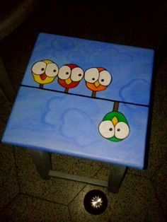 Painting on my old stool