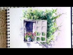 How to paint a Barn. Line and wash with a Waterbrush. Quick, easy and fun. With Peter Sheeler. - YouTube