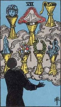 An interesting take on the 7 of cups tarot card.