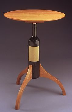 Wine Bottle Table: Duncan Gowdy: Wood Side Table | Artful Home