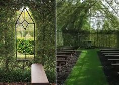 Church formed from living trees.