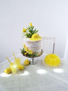 1:6 scale Lemon Naked Cake by OSS Mini Foods, Miniature Food, Minis, Panna Cotta, Naked, Scale, Lemon, Miniatures, Ethnic Recipes
