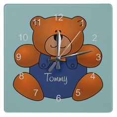 Personalized Teddy Bear Design Wall Clock