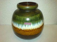 Vase Scheurich WGP Mid Century 60s 70s Keramik 284-19 *