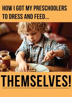 The secrets to getting my 4 and 5 year olds to get up and get themselves dressed, fed and ready to go to school each morning. #kids #routine