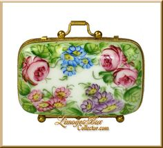 Floral Suitcase Limoges Box (Retired)