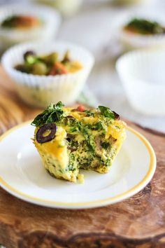 Ham Kale and Olive Frittata Cups | by Sonia! The Healthy Foodie #easy #breakfast #recipe