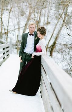 Wedding Photo: Magical Winter // Photography by Ciara Richardson on Bridal Musings via Lover.ly