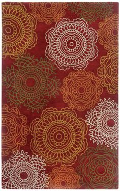 Brevard rug in Red really enhances a Fall look in any room! #CapelRug