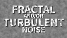 Fractal and Turbulent Noises - Adobe After Effects tutorial
