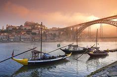 Douro River, Oporto, home of Portuguese finest wine - Porto Wine