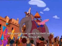 "Robin Williams as the Genie singing ""Prince Ali"" from Aladdin"