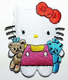 New Hello Kitty Cartoon Comics Cartoon Logo Kid Polo T Shirt Patch Iron on Embroidered 6cm X 7.5cm ** Click image to review more details.