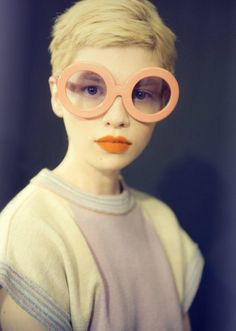 tsumori chisato shades. Love the colors in this photo.