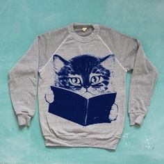 FURST EDITION Sweater [grey] ~First Mate $48  http://www.firstmategoods.com/product/kitty-sweater-grey