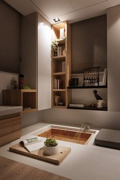 Minimalist Apartment Design That Has Been Influenced With Modern Asian Theme Ideas Asian Interior Design, Interior, Home, Beautiful Bathroom Designs, Minimalist Living Room, Modern Bathroom Design, Interior Design, Asian Interior, Asian Home Decor