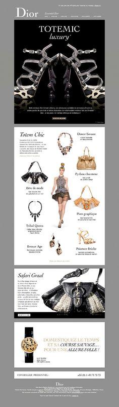 Dior Email Design Inspiration, Web Design Inspiration, Email Newsletter Design, Email Newsletters, Email Marketing Design, Email Templates, Bronze, Corporate Design, User Interface