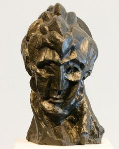 Picasso, Head of a Woman.  #arts #artist #creative #picasso #sculpture