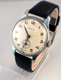 Vintage Soviet Men's Wristwatch Early POBEDA TTK by SovietEmpire