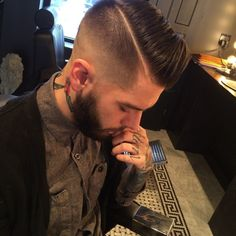 hard part... Men hair cut cute stylish