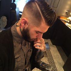 hard part... Men hair cut cute stylish