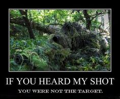 Spooky, but always interested me. Got mad respect for Military snipers...