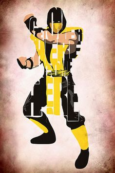 Scorpion - Mortal Kombat Print by Ayse Deniz