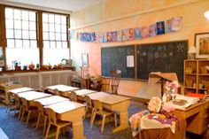 Cape Ann Waldorf School. Cannot get over how simple and clean Waldorf classrooms are. Love it.