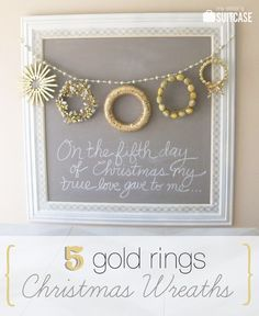 5 Golden Rings wreath