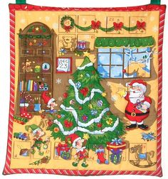 Advent Calendar Santa's Toy Workshop Quilted by lilacelephant, £49.00