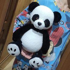 Crochet Panda, Easter Crochet, Crochet Bear, Crochet Toys, Knitted Cat, Knitted Animals, Diy Crochet For Beginners, Handmade Soft Toys, Sock Dolls