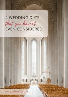 Are You Planning To Diy Your Wedding Have Considered These 4 Non Typical